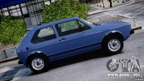 Volkswagen Golf Mk1 para GTA 4 vista desde abajo
