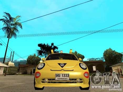 Volkswagen Beetle Pokemon para la visión correcta GTA San Andreas