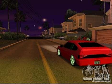 New Blistac para GTA San Andreas vista posterior izquierda