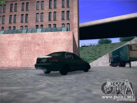 Honda Civic Sedan 1997 para GTA San Andreas vista posterior izquierda