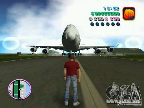 Boeing 747 para GTA Vice City left