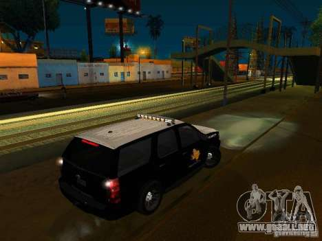 Chevrolet Tahoe Texas Highway Patrol para GTA San Andreas left