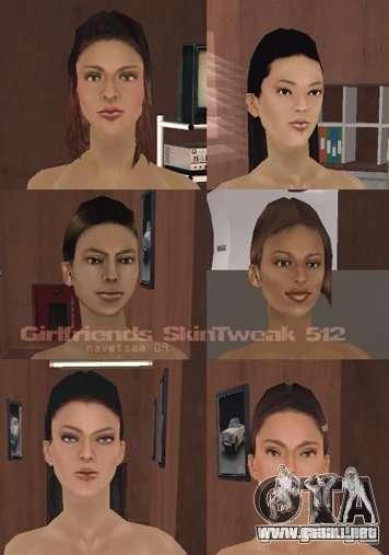 Caracteres Reteksturizaciâ para GTA San Andreas octavo de pantalla