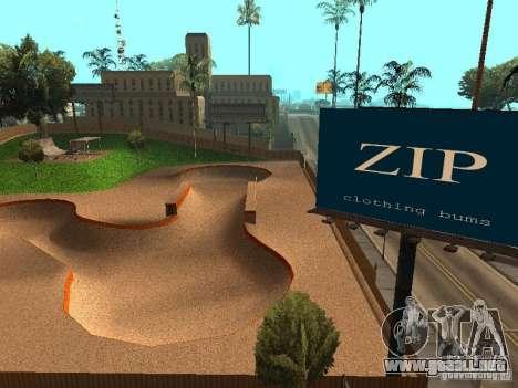 New SkatePark v2 para GTA San Andreas novena de pantalla