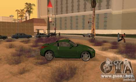 Nissan 350Z stock para GTA San Andreas vista posterior izquierda