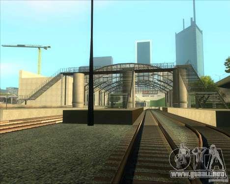 Las plataformas altas en las estaciones de tren para GTA San Andreas tercera pantalla