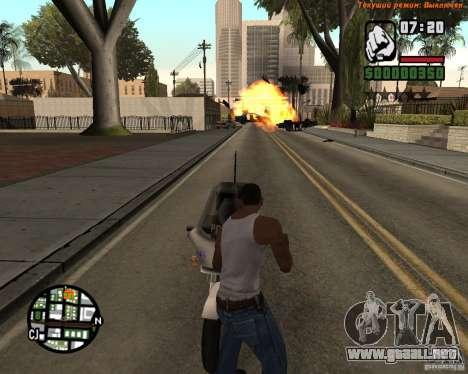 Súper patada para GTA San Andreas sucesivamente de pantalla
