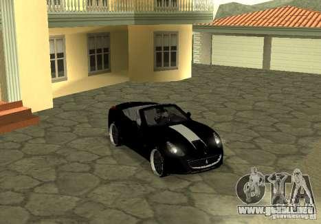 Ferrari California 2011 para la visión correcta GTA San Andreas