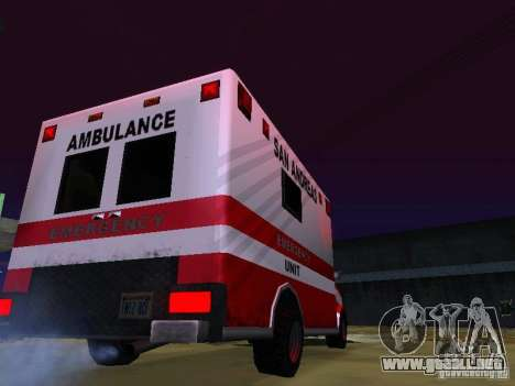 Ambulance 1987 San Andreas para GTA San Andreas left