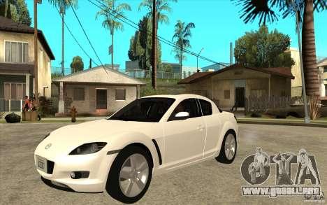 Mazda RX8 para GTA San Andreas