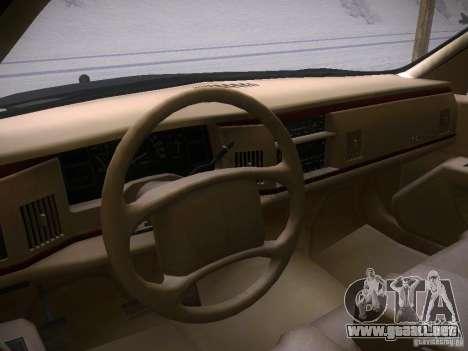 Buick Roadmaster 1996 para la visión correcta GTA San Andreas