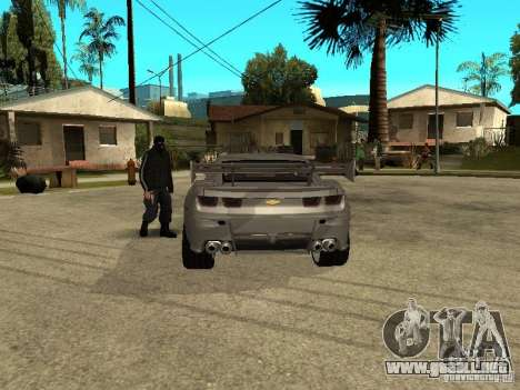 Chevrolet Camaro para GTA San Andreas vista posterior izquierda