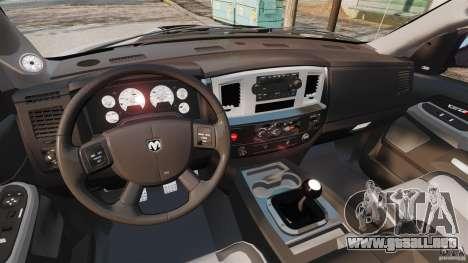 Dodge Ram SRT-10 2006 EPM para GTA 4 vista hacia atrás