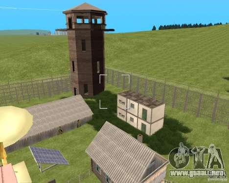 Base Gareli para GTA San Andreas segunda pantalla