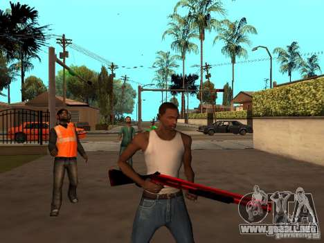 Red Chrome Weapon Pack para GTA San Andreas sexta pantalla