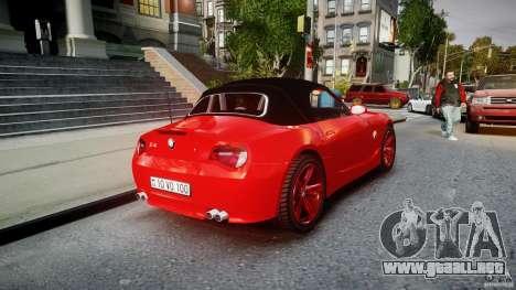 BMW Z4 Roadster 2007 i3.0 Final para GTA 4 vista superior