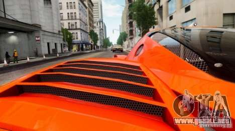 Ferrari FXX Evoluzione para GTA 4 vista hacia atrás