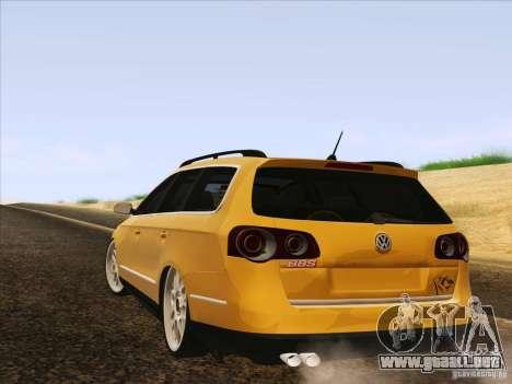 Volkswagen Passat B6 Variant para GTA San Andreas interior