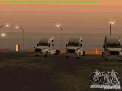 Peterbilt 387 para GTA San Andreas left