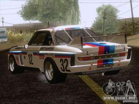 BMW CSL GR4 para GTA San Andreas vista posterior izquierda