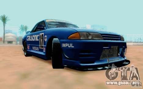 Nissan Skyline GT-R R32 1993 Tunable para la vista superior GTA San Andreas