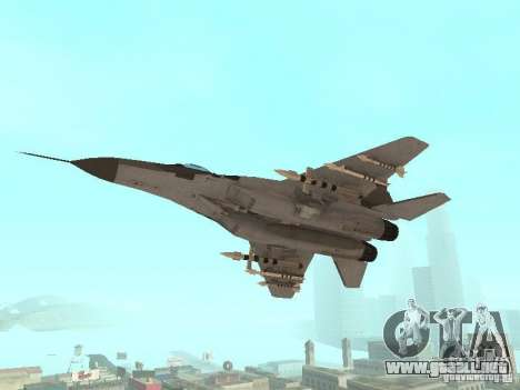 MIG-29 de la COD MW2 para la visión correcta GTA San Andreas