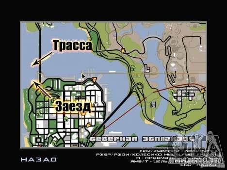 New Drift Track SF para GTA San Andreas novena de pantalla