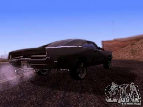 Dodge Charger 1970 Fast Five para la visión correcta GTA San Andreas