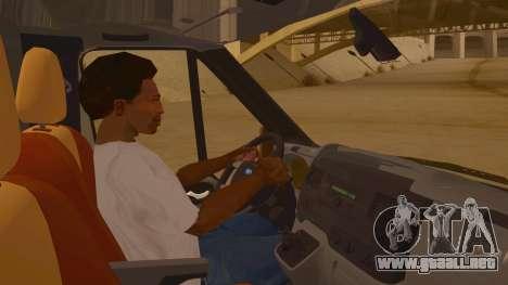 Ford Transit CNN para visión interna GTA San Andreas