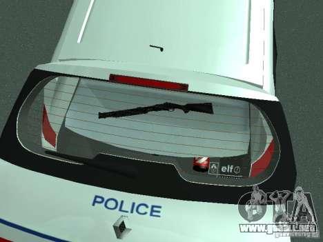 Renault Scenic II Police para la vista superior GTA San Andreas