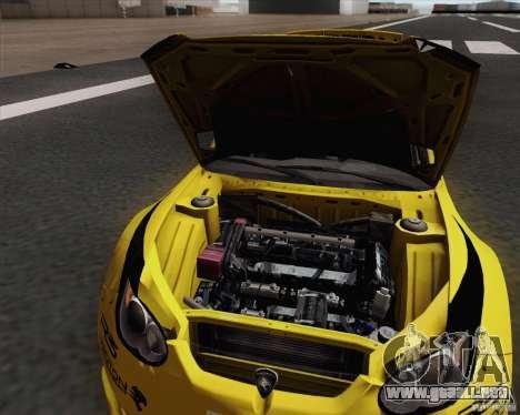 Satria Neo S2000 para GTA San Andreas vista hacia atrás