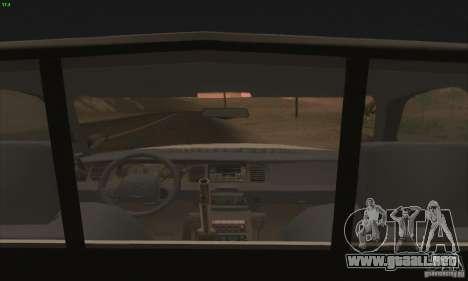 Ford Crown Victoria Georgia Police para la visión correcta GTA San Andreas