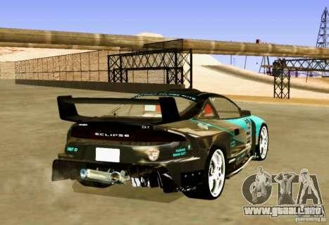Mitsubishi Eclipse Elite para GTA San Andreas vista posterior izquierda