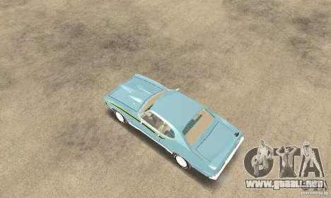 Pontiac GTO The Judge para GTA San Andreas vista posterior izquierda