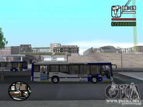 Busscar Urbanuss Ecoss MB 0500U Sambaiba para GTA San Andreas vista hacia atrás