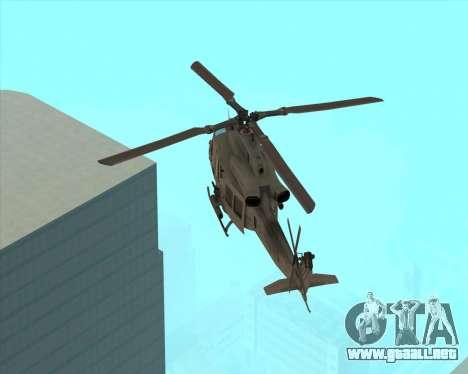 UH-1 Iroquois para GTA San Andreas vista posterior izquierda