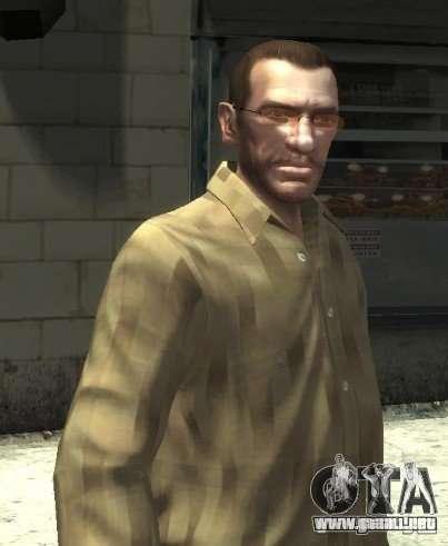 Nuevas gafas para Niko-rosado para GTA 4 segundos de pantalla