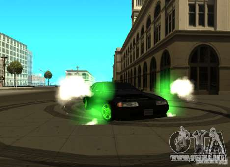 Elegy Green Drift para GTA San Andreas left