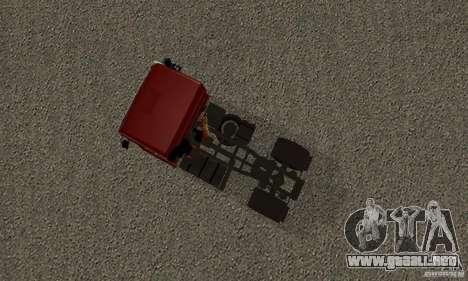 KAMAZ 5460 piel 2 para GTA San Andreas vista hacia atrás