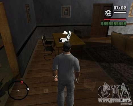 La oportunidad de jugar en un equipo portátil para GTA San Andreas