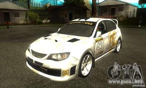 Subaru Impreza WRX STi DC Shoes de DIRT 2 para GTA San Andreas