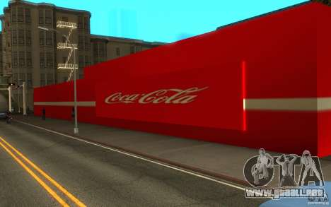 Coca Cola Market para GTA San Andreas segunda pantalla