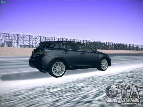 Lexus CT200H 2012 para visión interna GTA San Andreas