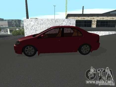Toyota Corolla Sedan para GTA San Andreas left