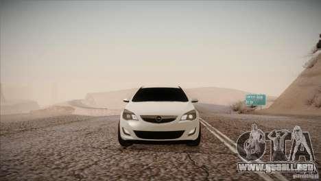 Opel Astra 2010 para GTA San Andreas vista hacia atrás