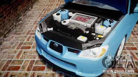 Subaru Impreza WRX STI Spec C Type RA-R 2007 para GTA 4 vista interior
