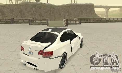 BMW M3 2008 Hamann v1.2 para vista inferior GTA San Andreas
