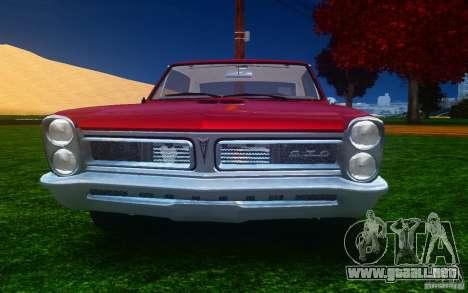 Pontiac GTO 1965 FINAL para GTA 4 vista superior