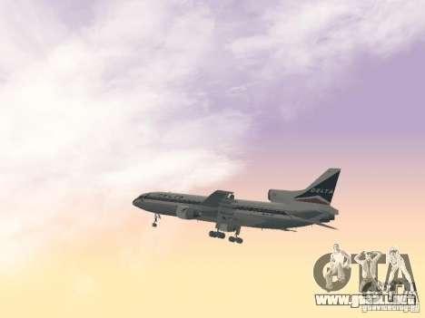 L1011 Tristar Delta Airlines para vista lateral GTA San Andreas