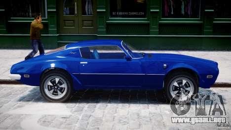 Pontiac Firebird Esprit 1971 para GTA 4 vista desde abajo